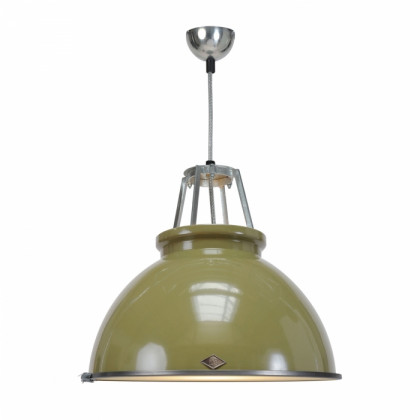 Original BTC Titan Size 3 Pendant Lamp with Etched Glass