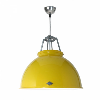 Original BTC Titan Size 3 Pendant Lamp-Yellow with White Interior