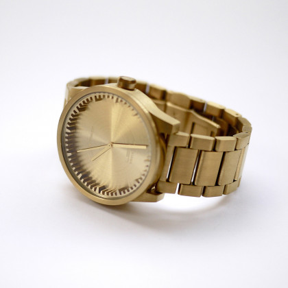 Leff Amsterdam Tube Watch S-Series brass by Piet Hein Eek