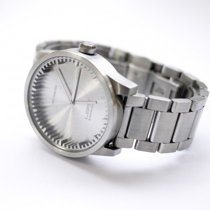 Leff Amsterdam Tube Watch S-Series steel by Piet Hein Eek