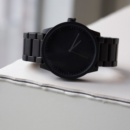 Leff Amsterdam Tube Watch S-Series black by Piet Hein Eek