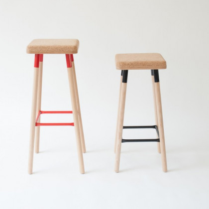 Ubikubi Marco Cork Low Bar Stool