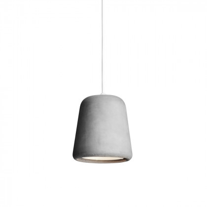 New Works Material Pendant Light - White Fitting