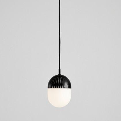 Woud Dot Pendant - Medium-Black