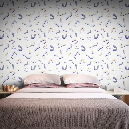 Feathr Memphis Bound Wallpaper by Sanne Sofia