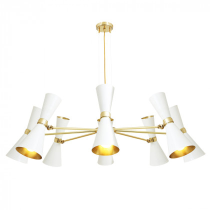 Double Cone Brass Chandelier