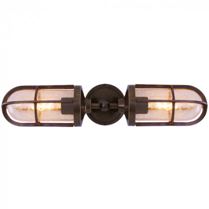 Double Well Glass Wall Light