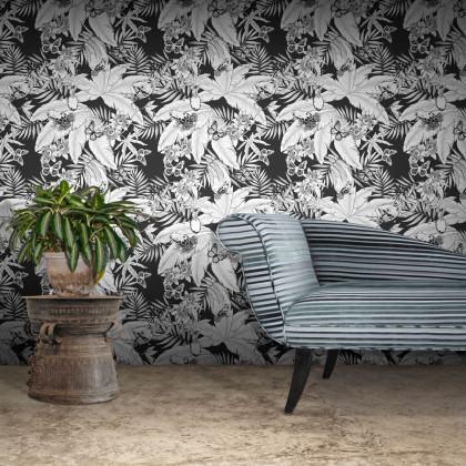 Feathr Monochrome Jungle Wallpaper by Glenn Todd
