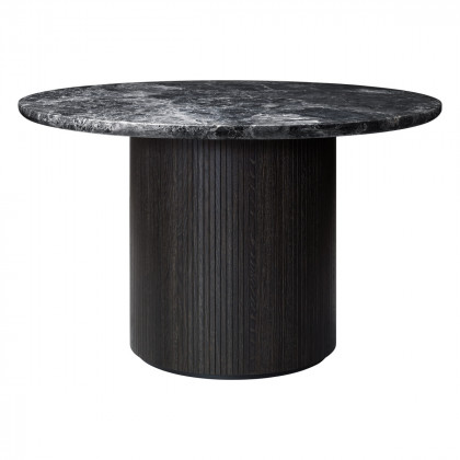 Gubi Moon Dining Table - Round, 120cm Diameter, Marble Top