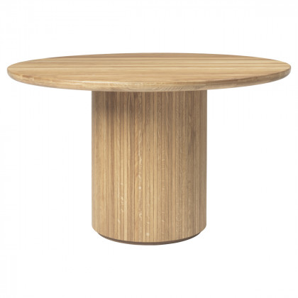 Gubi Moon Dining Table - Round, 120cm Diameter, Wood Top