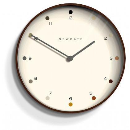 Newgate Mr Clarke Clock - Dots - Plywood - Black