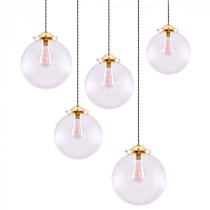 Glass Globe Cluster Chandellier