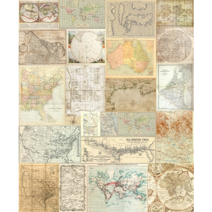 Travel Memories Old maps Mural