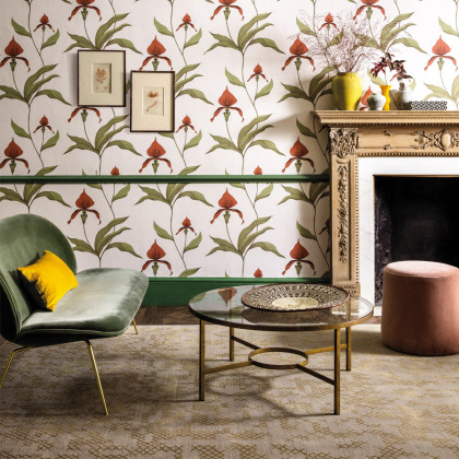 Cole and Son Orchid Wallpaper - Contemporary Restyled