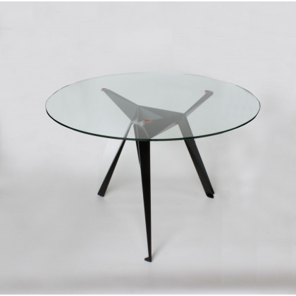 Innermost Origami Glass Dining Table-Black