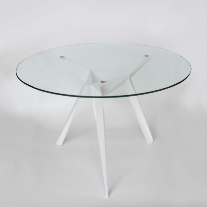 Innermost Origami Glass Dining Table-White