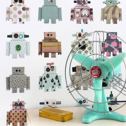 Studio Ditte Robot Wallpaper