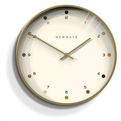 Newgate Oslo Clock - Dot - Radial Gold