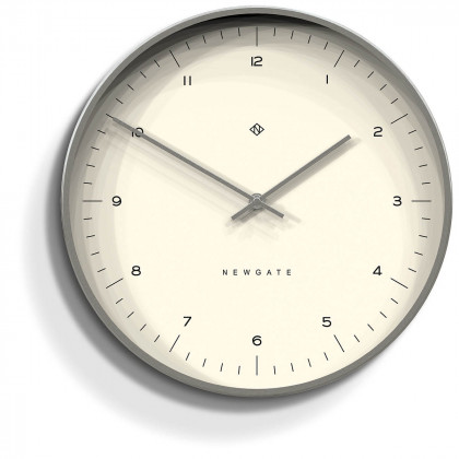 Newgate Oslo Clock - Numbers - Radial Silver