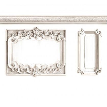 Louis XV Wood Panelling Wallpaper- White Palace