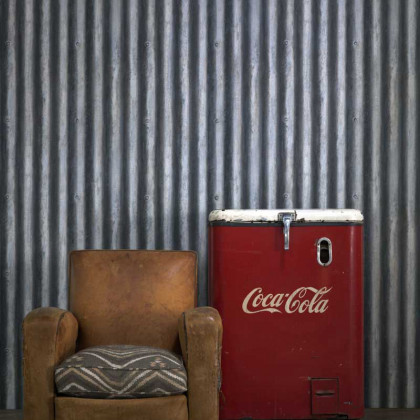 Andrew Martin Palmer Corrugated Metal Wallpaper