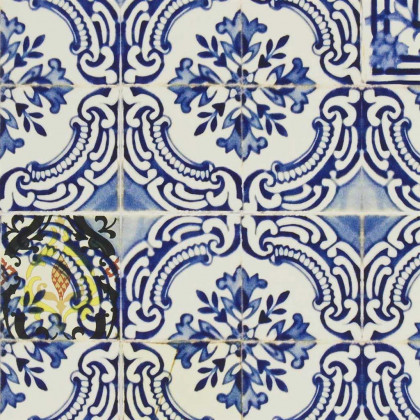Christian Lacroix Patio Wallpaper - Cobalt