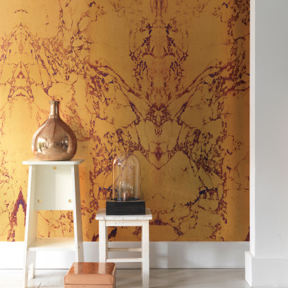 NLXL Materials Wallpaper by Piet Hein Eek - Gold Metallic Marble
