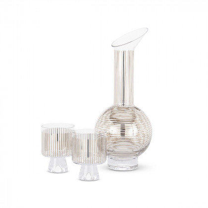 Tom Dixon Tank Jug Set - Platinum Stripe