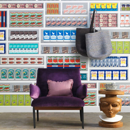 NLXL Paola Navone Supermarket Wallpaper