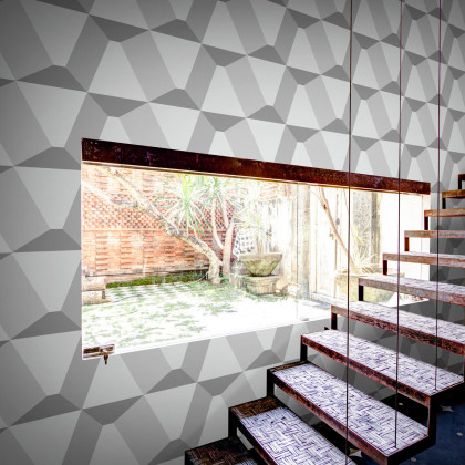 Feathr Polly Gone Geometric Wallpaper by Liam McCormick