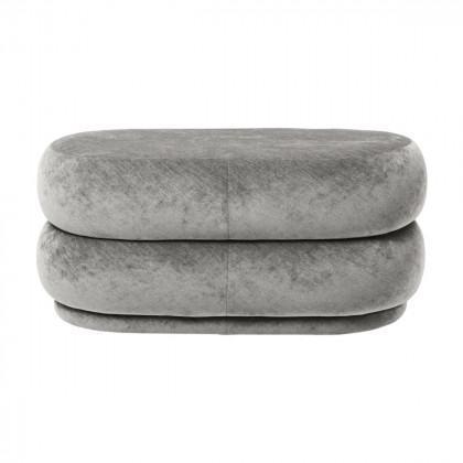 Ferm Living Pouf Oval - Faded Velvet - medium