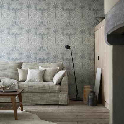 Morris and Co Pure Honeysuckle & Tulip Wallpaper