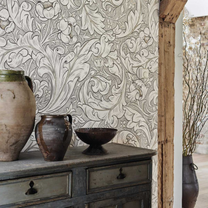 Morris and Co Pure Bachelors Button Wallpaper