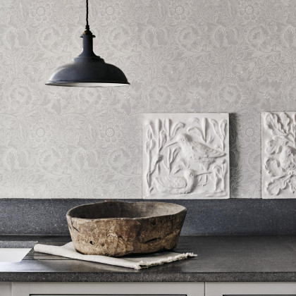 Morris and Co Pure Poppy Wallpaper