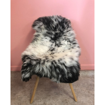 Natural Multi-coloured 'Rare Breed' Sheepskin - Dark
