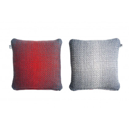 Simon Key Bertman Textile Design & Art -2-Sided Gradient Cushion Cover - Red/Grey