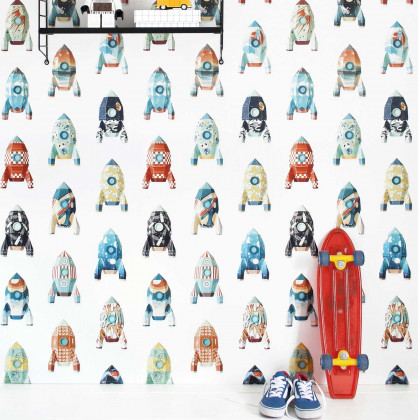 Studio Ditte Rocket Wallpaper