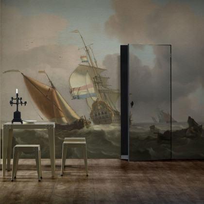 Rough Sea Mural Wallpaper by Piet Hein Eek