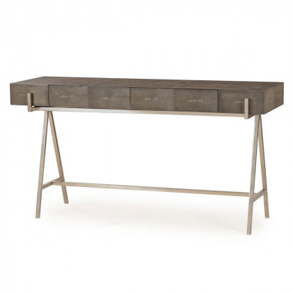 Andrew Martin Faux Shagreen Sampson Console Table
