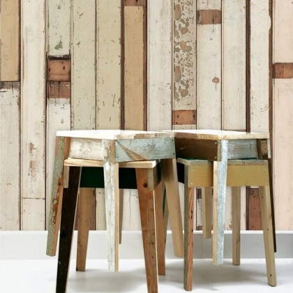 NLXL Scrap wood Wallpaper by Piet Hein Eek - PHE-01