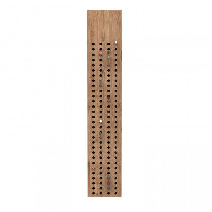 We Do Wood - Vertical Scoreboard Coat Rack - Multi Colour