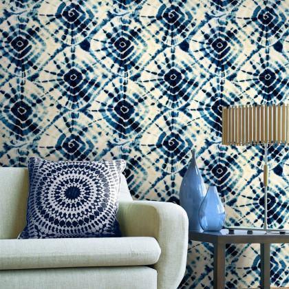 Mind The Gap Shibori Swirls Wallpaper