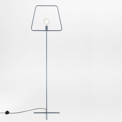 Adolfo Abejon Grey Slim L Floor Lamp