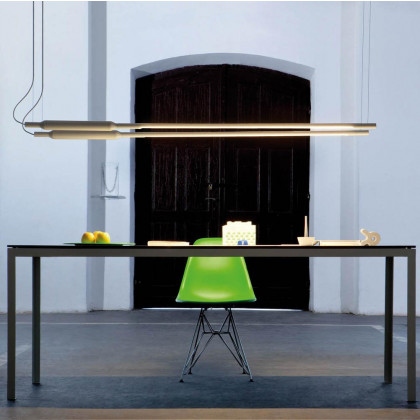 Vertigo Bird Slim Horizontal Suspension Lamp - White