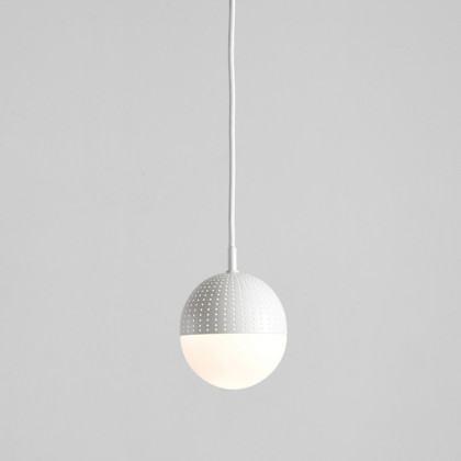 Woud Dot Pendant - Small-White