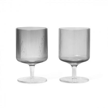 Ferm Living Ripple Wine Glasses (Set of 2)