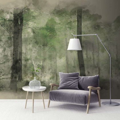 Feathr In the Glade (Stag Forest) Wall Mural Wallpaper