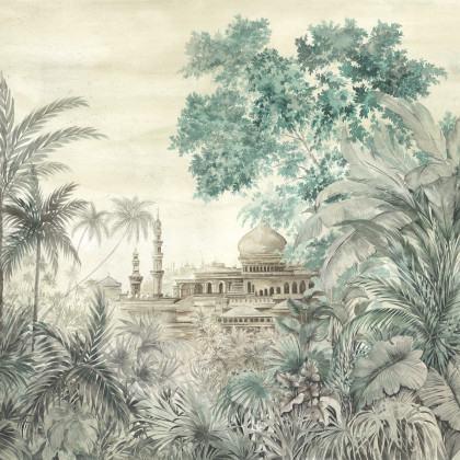 Coordonne Taj Mahal Mural-Maca