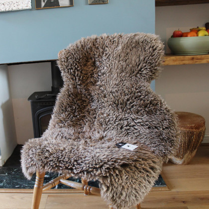 Curly Sheepskin Rug - Taupe