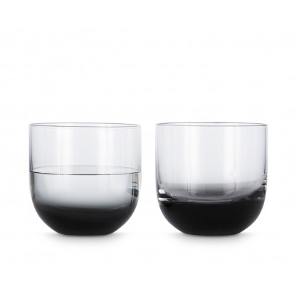 Tom Dixon Tank Whiskey Glasses - Black (set of two)